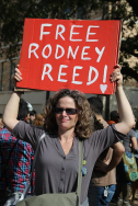 Supporter Judy Morgan at the #blacklivesmatter march in Austin, Jan. 2015 Photo by Elizabeth Brossa