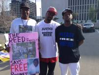 "Members of the Reed family traveled from Bastrop to Austin for the ""Rally For Justice For Rodney Reed"" on Feb. 21, 2015 Photo by Randi Jones Hensley"