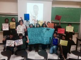 Solidarity for Rodney after a screening of State v Reed at Barnard College, Columbia University
