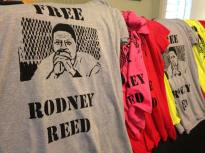Shirts supporting Rodney Reed