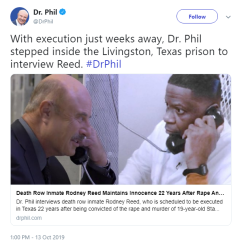 Dr. Phil tweets about his interview with Rodney