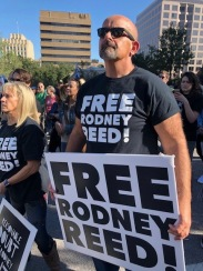 Supporters outside the Texas Governors Mansion, Nov. 9, 2019