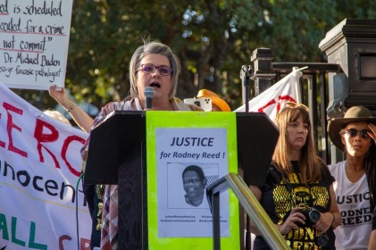 Heather Campbell Sobbs, cousin of Stacey Stites, speaks out for Rodney. Nov. 9, 2019